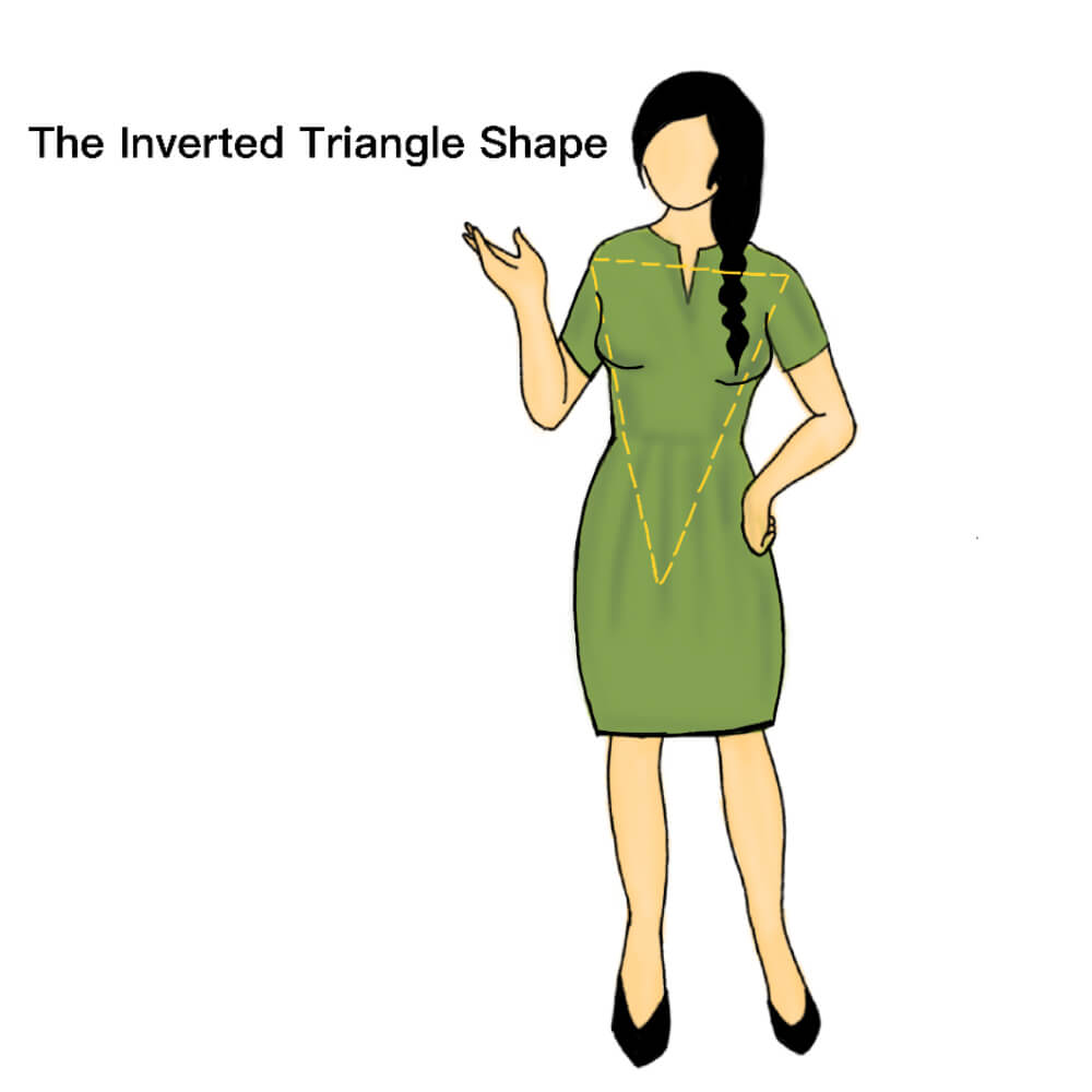 The-inverted-triangle-shape