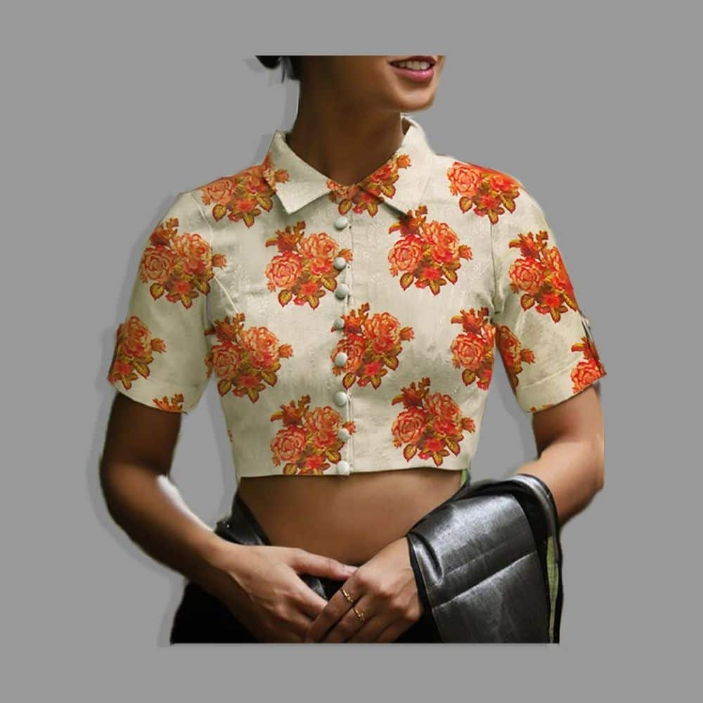 Stitching-Simpleblouse-collarneck-fabric-rosegarden