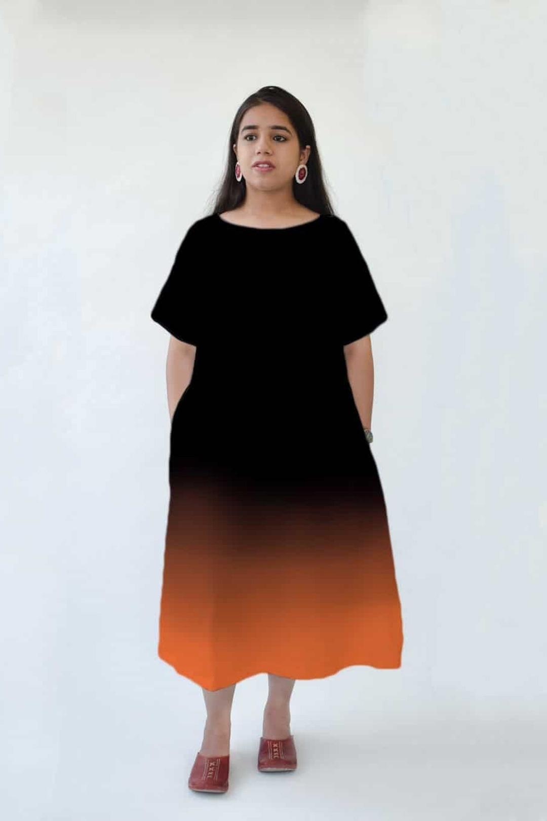 A Line Dress – Ombre Cosy Cotton