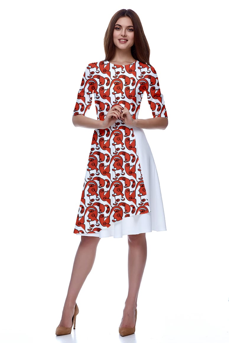 Georgette Fit and Flare Dress – Faces