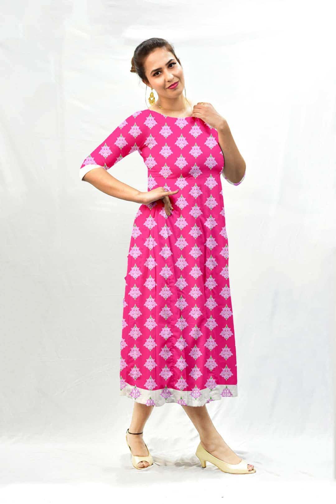 Georgette A Line Dress – Maharani