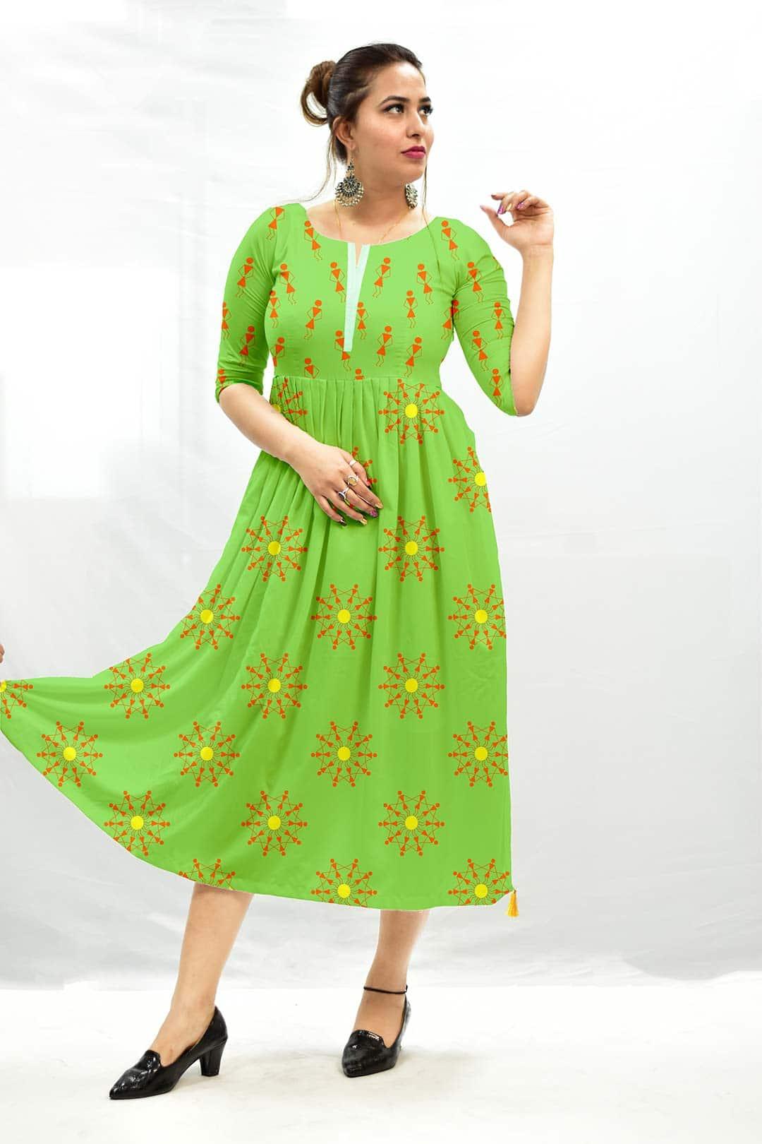 Cotton Frock Style Dress – Warli