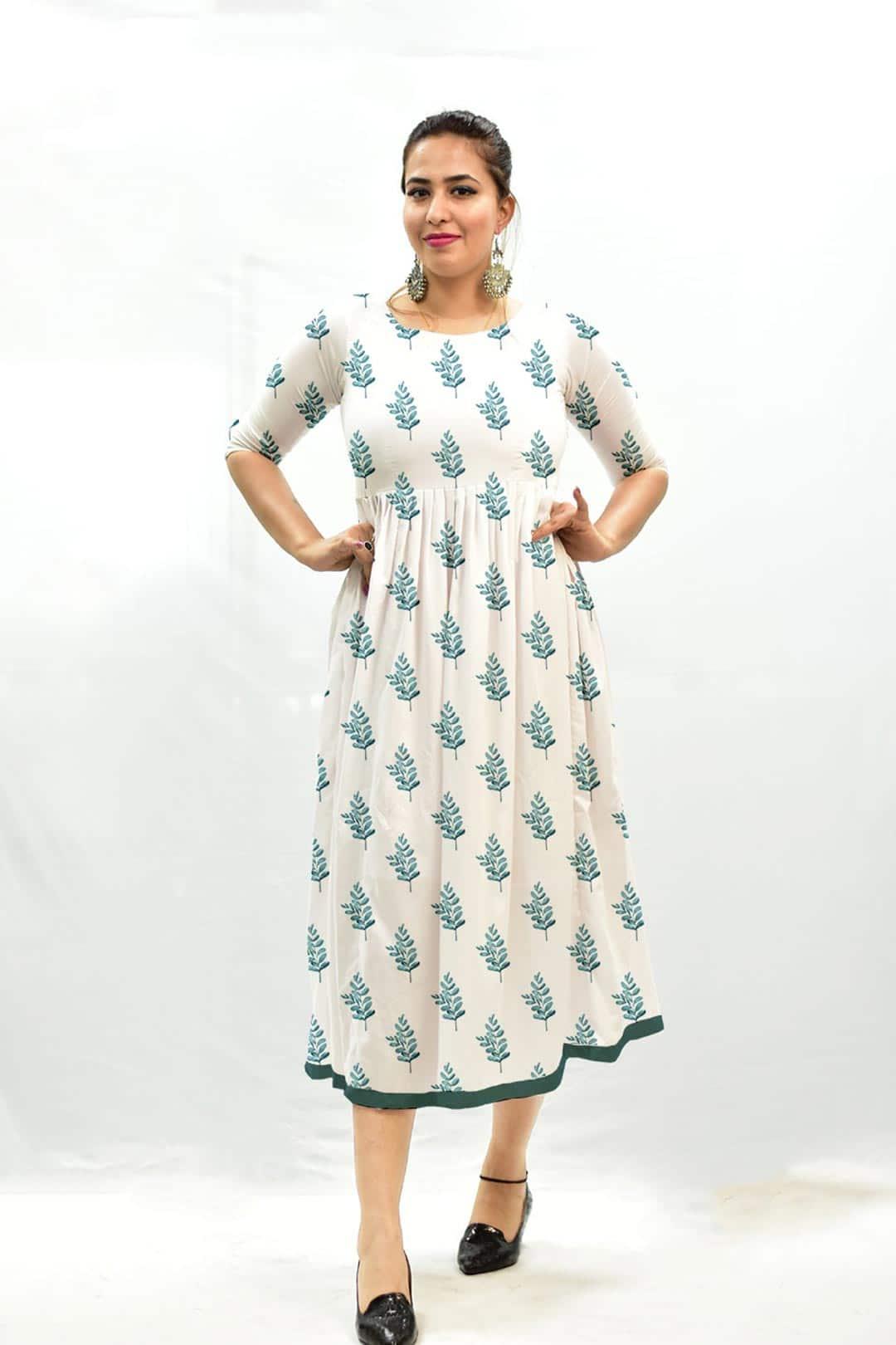 Georgette Frock style Dress – Frond