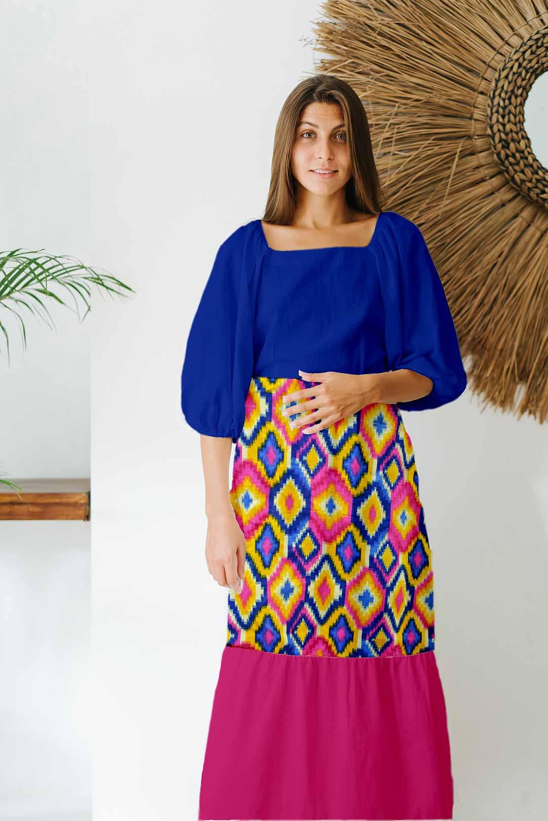 Cotton Tiered Dress – Fantasy