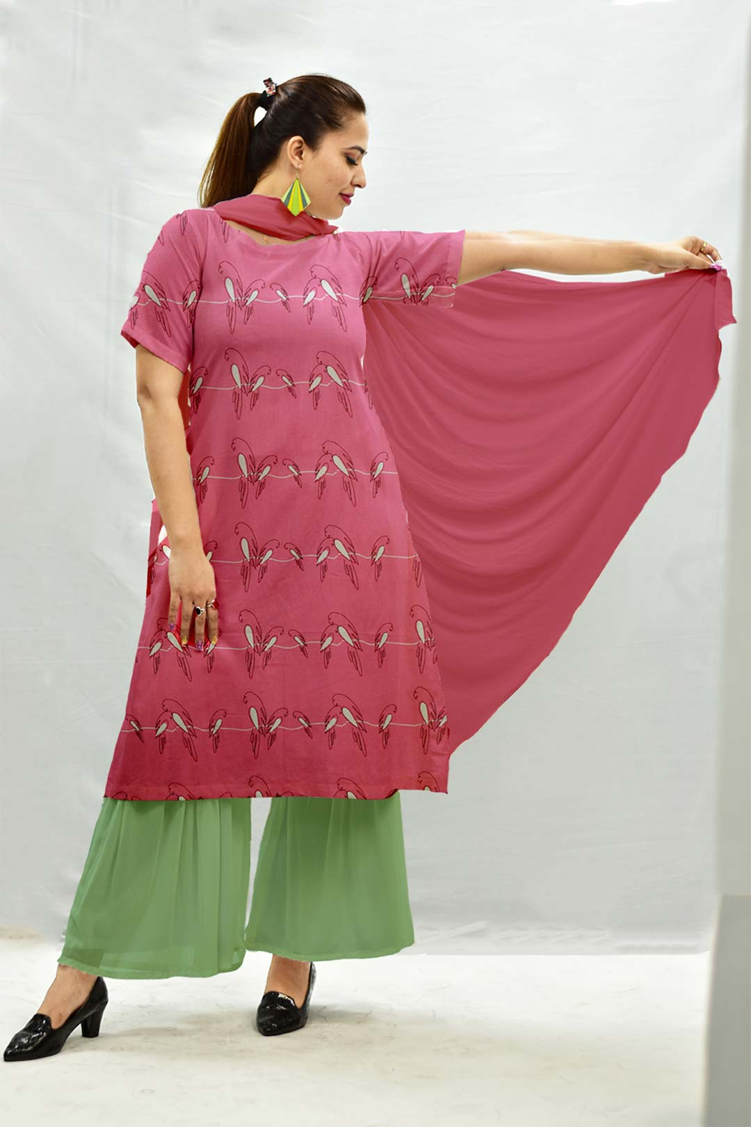 Georgette Sharara Suit with Dupatta – Churpies