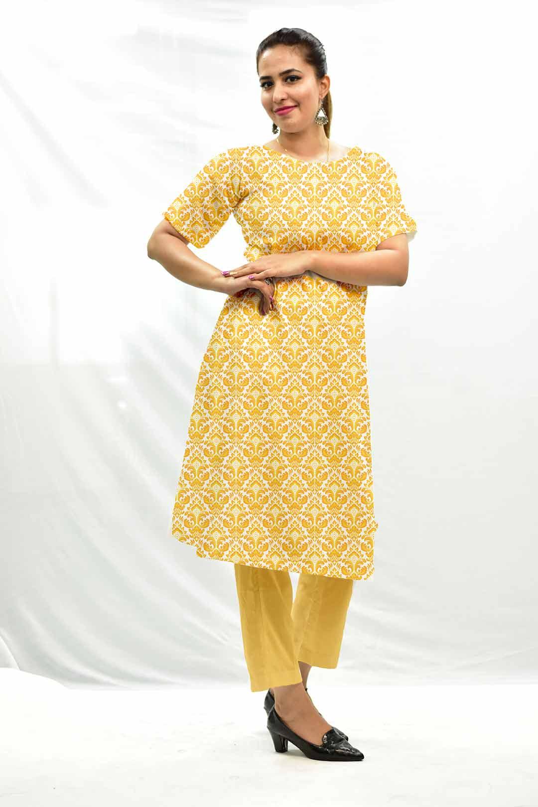 Georgette Pant Suit – Mustard