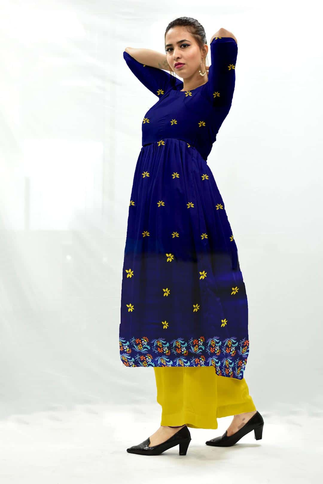 Georgette Frock Style Suit – Blu Bloom