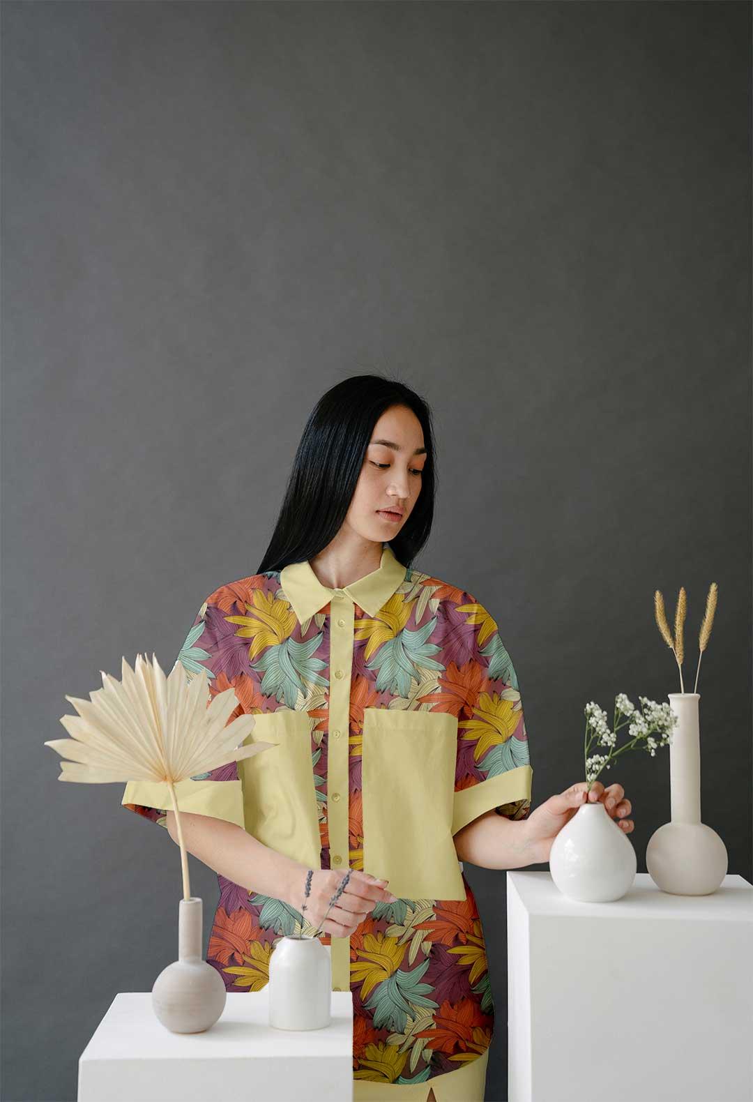 Georgette Shirt Top – Flora