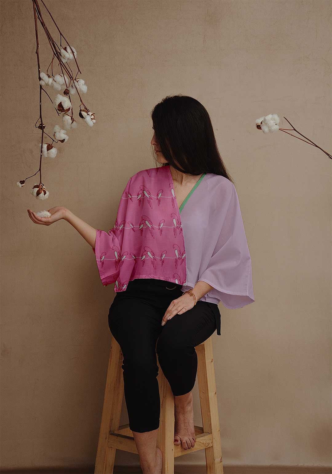 Georgette Cape Style Top – Churpies