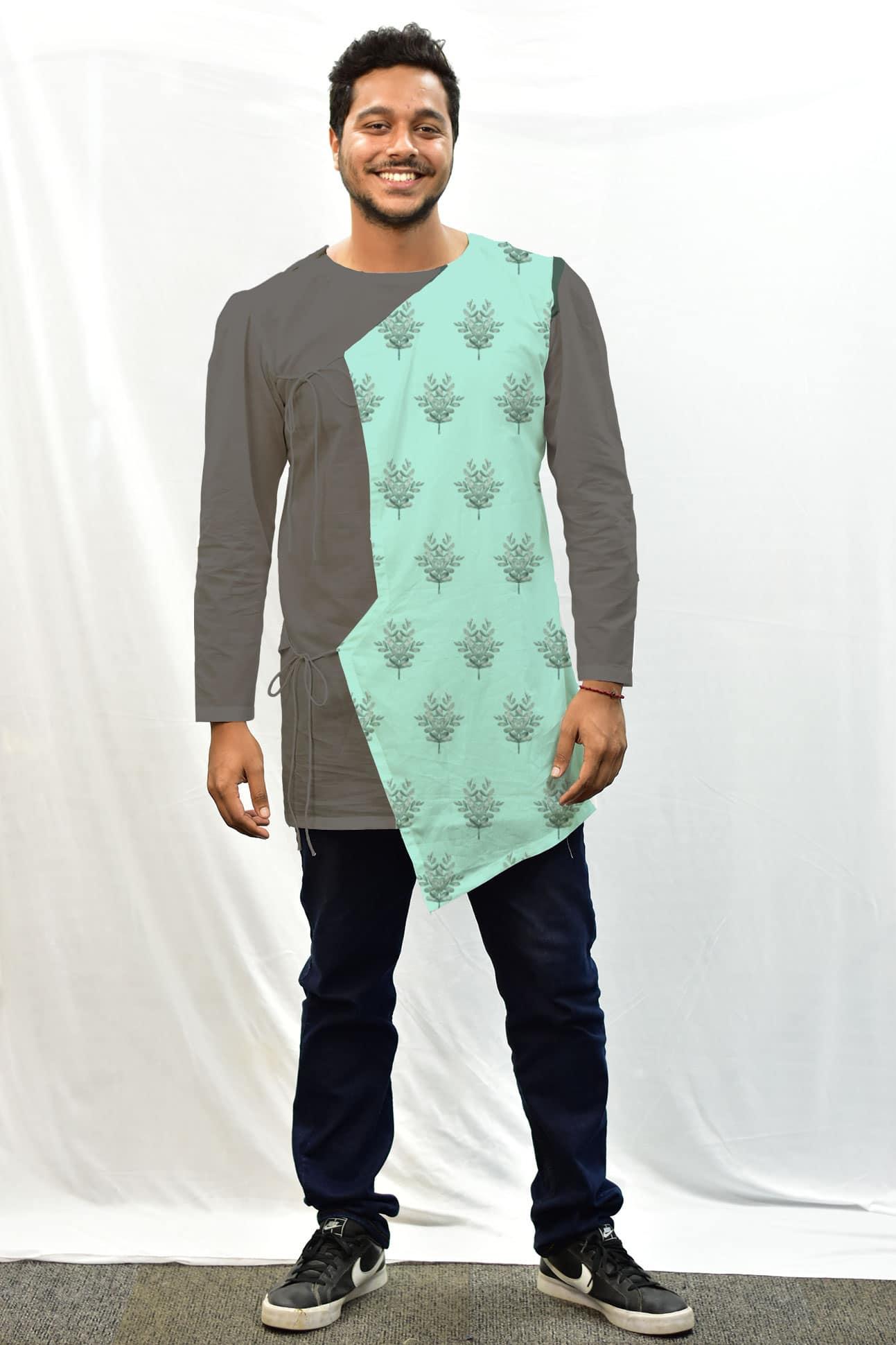 Cotton – Cambric Men – Angrakha Kurta