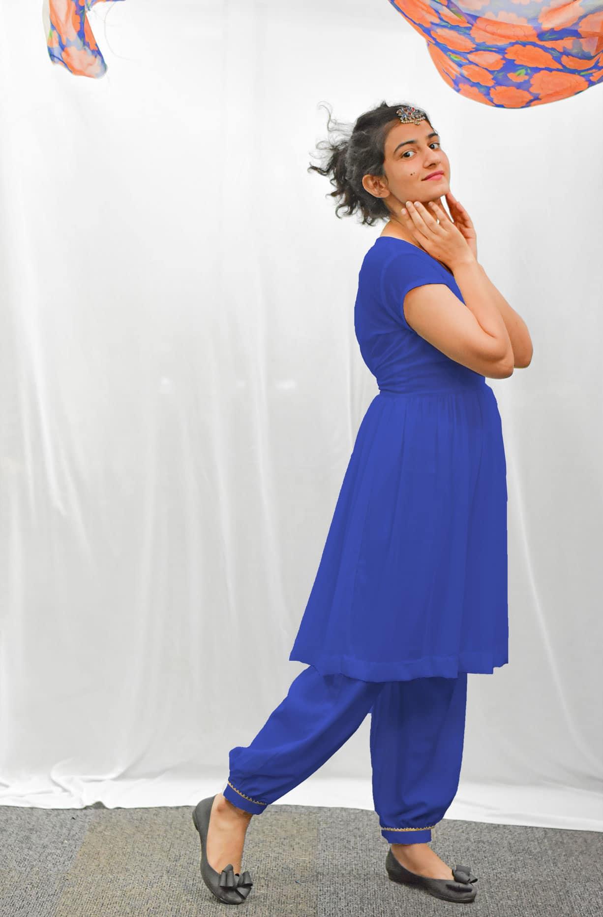 Georgette Salwar Suit – Ultra Marine
