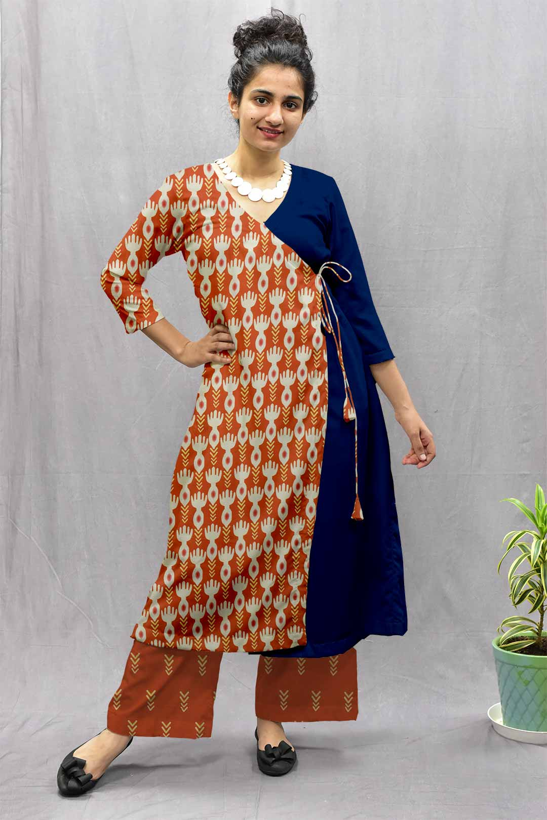 Cotton Angrakha style suit – Bind