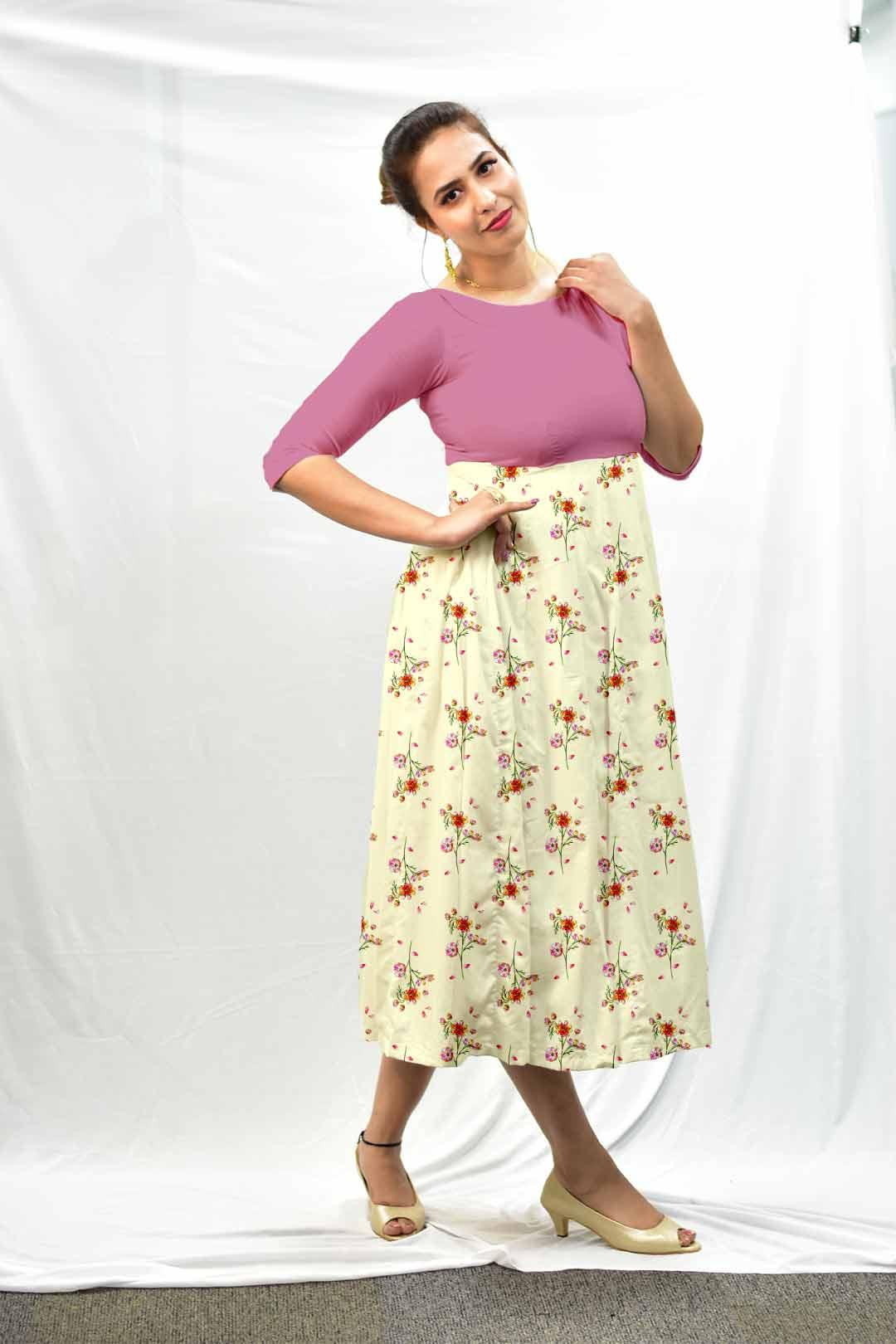 Cotton Frock Style Dress – Upside down