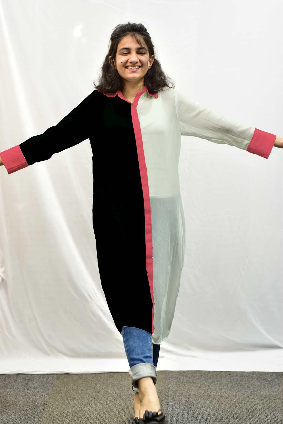 Georgette Shirt Style kurta – Absolute