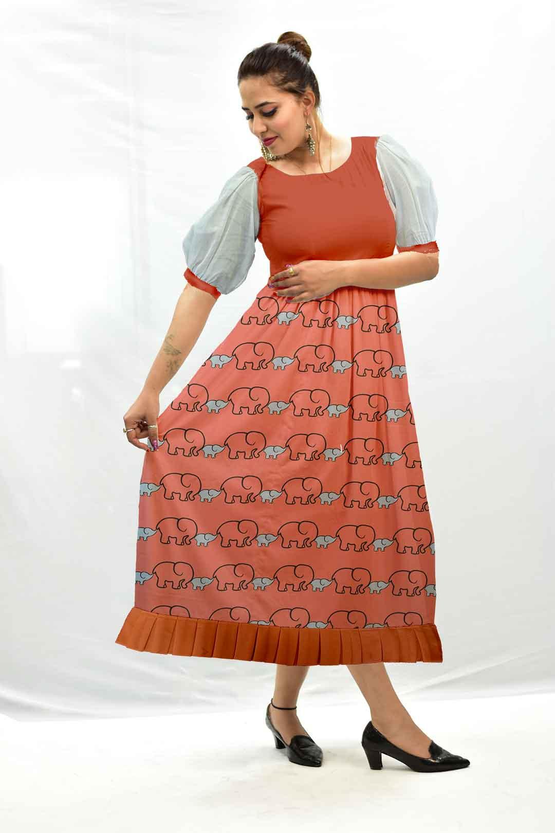 Cotton Frock Style Dress – Bade Miya, Chote Miya
