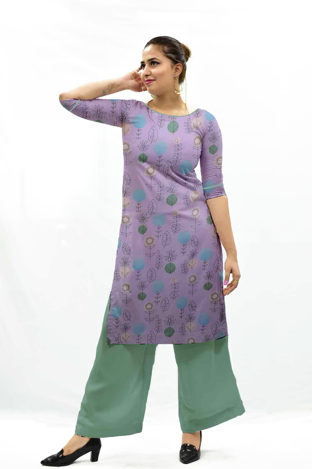 Cotton Palazzo Suit – Off Beat