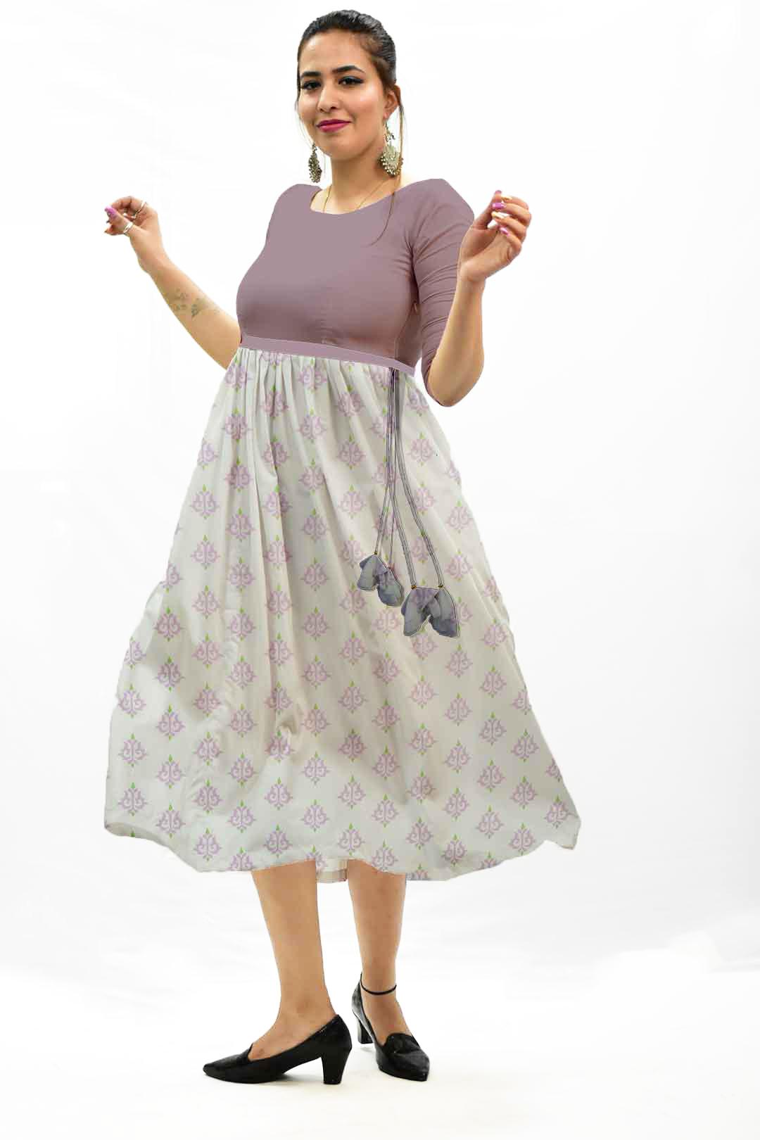 Cotton Frock Style Dress – Maharani
