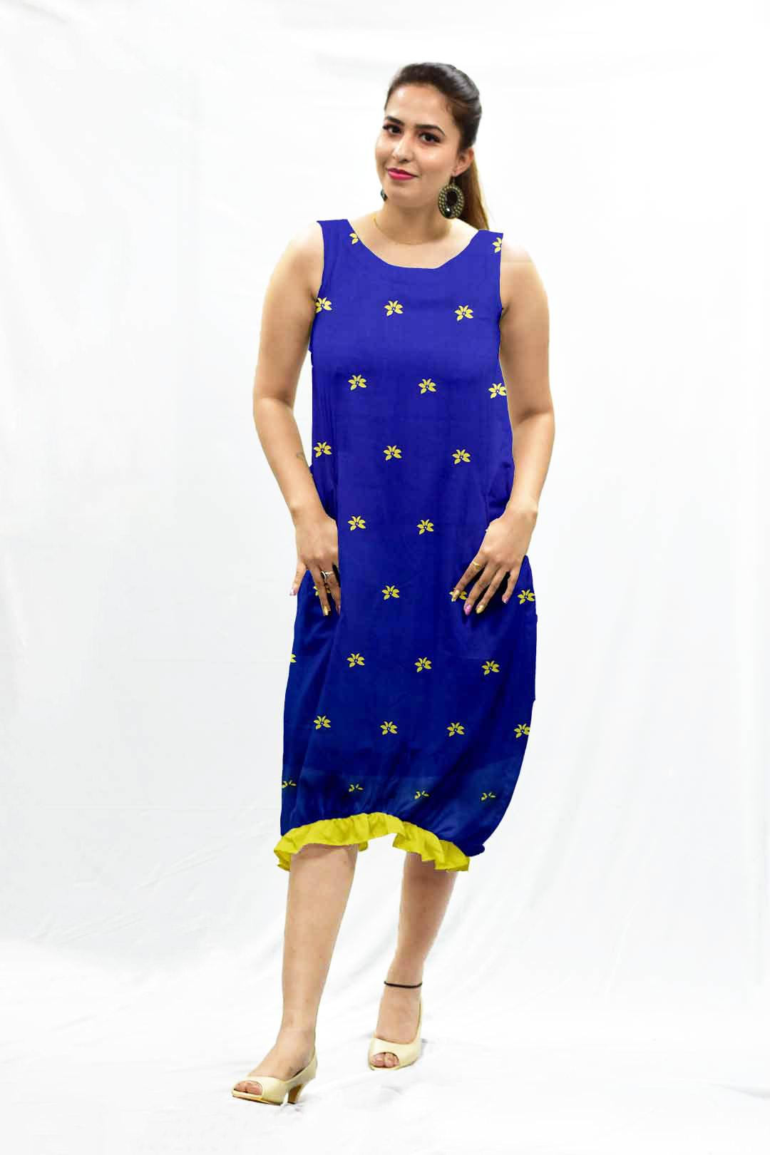 Cotton Ruffle Dress – Blu Bloom