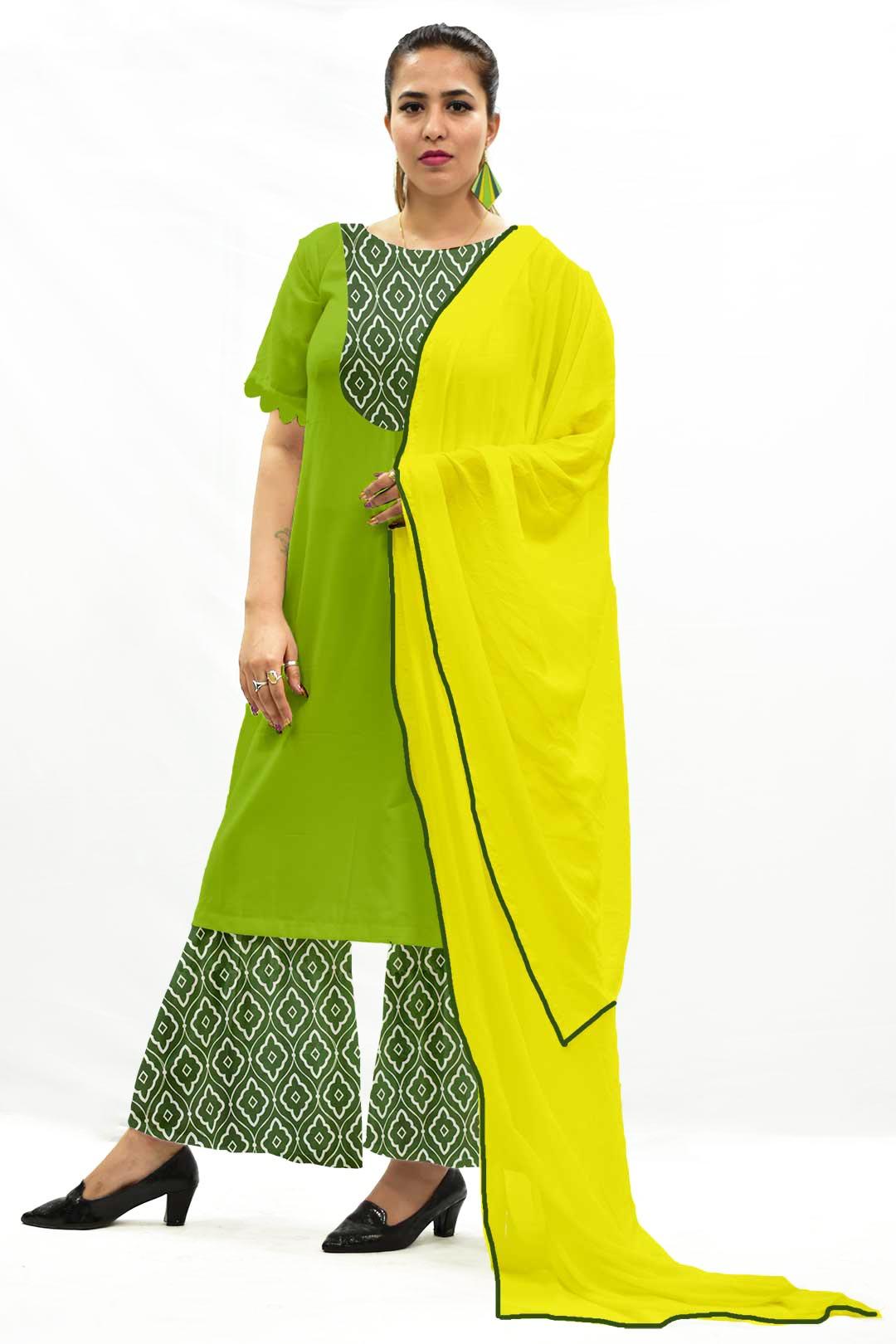 Georgette Sharara Suit with Dupatta – Diamond