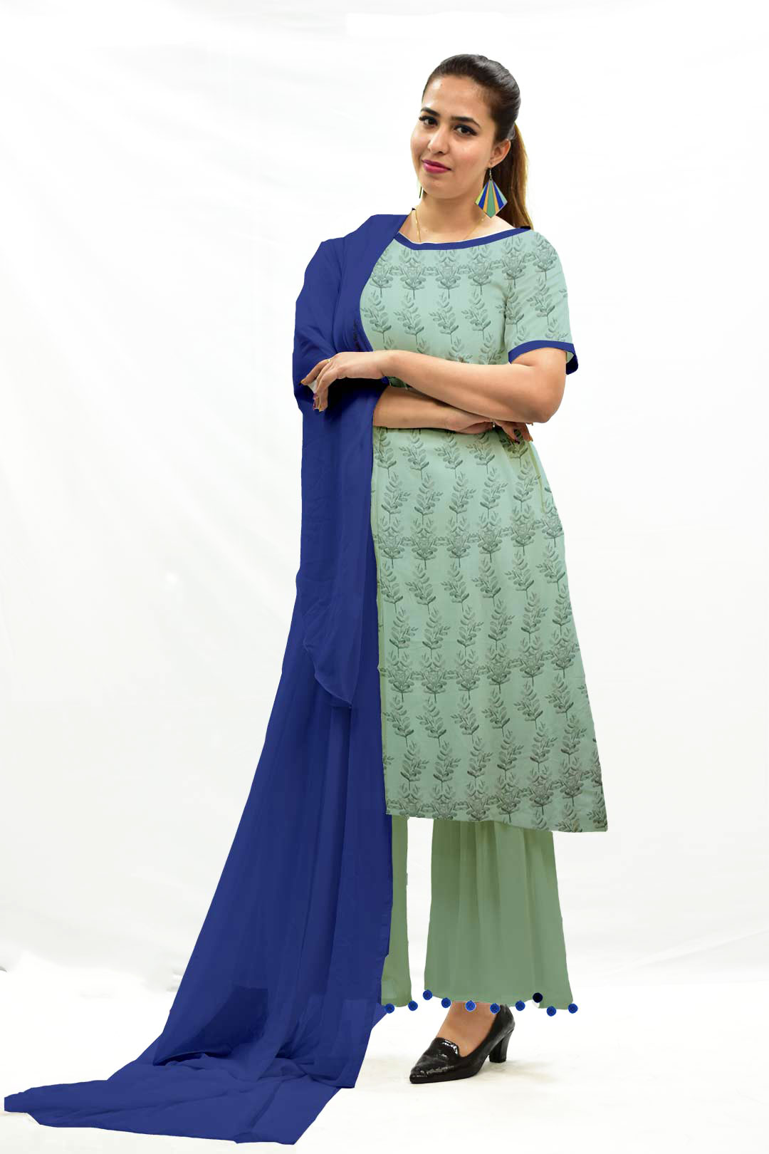 Georgette Sharara Suit with Dupatta – Boota