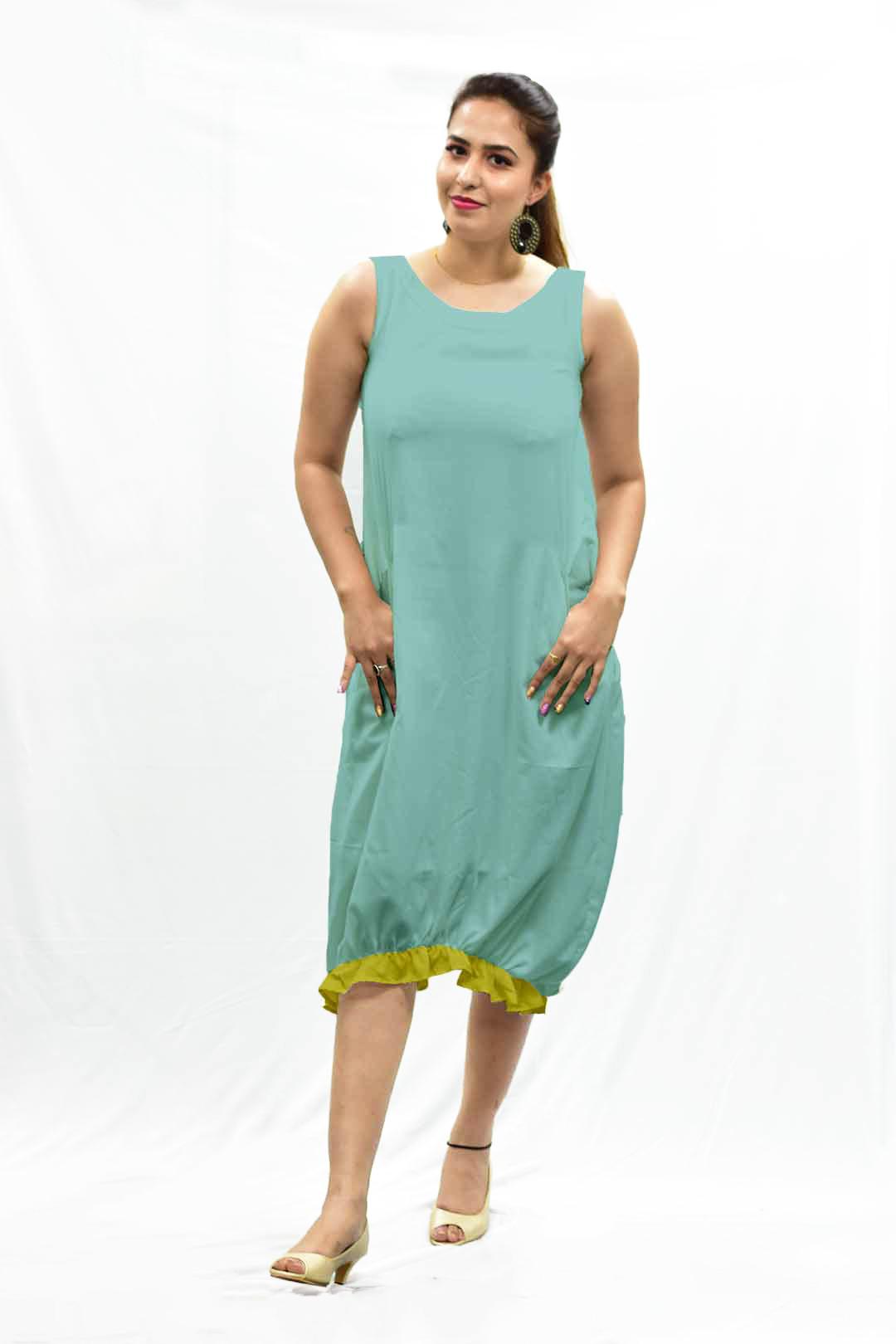 Cotton Ruffle Dress – Light