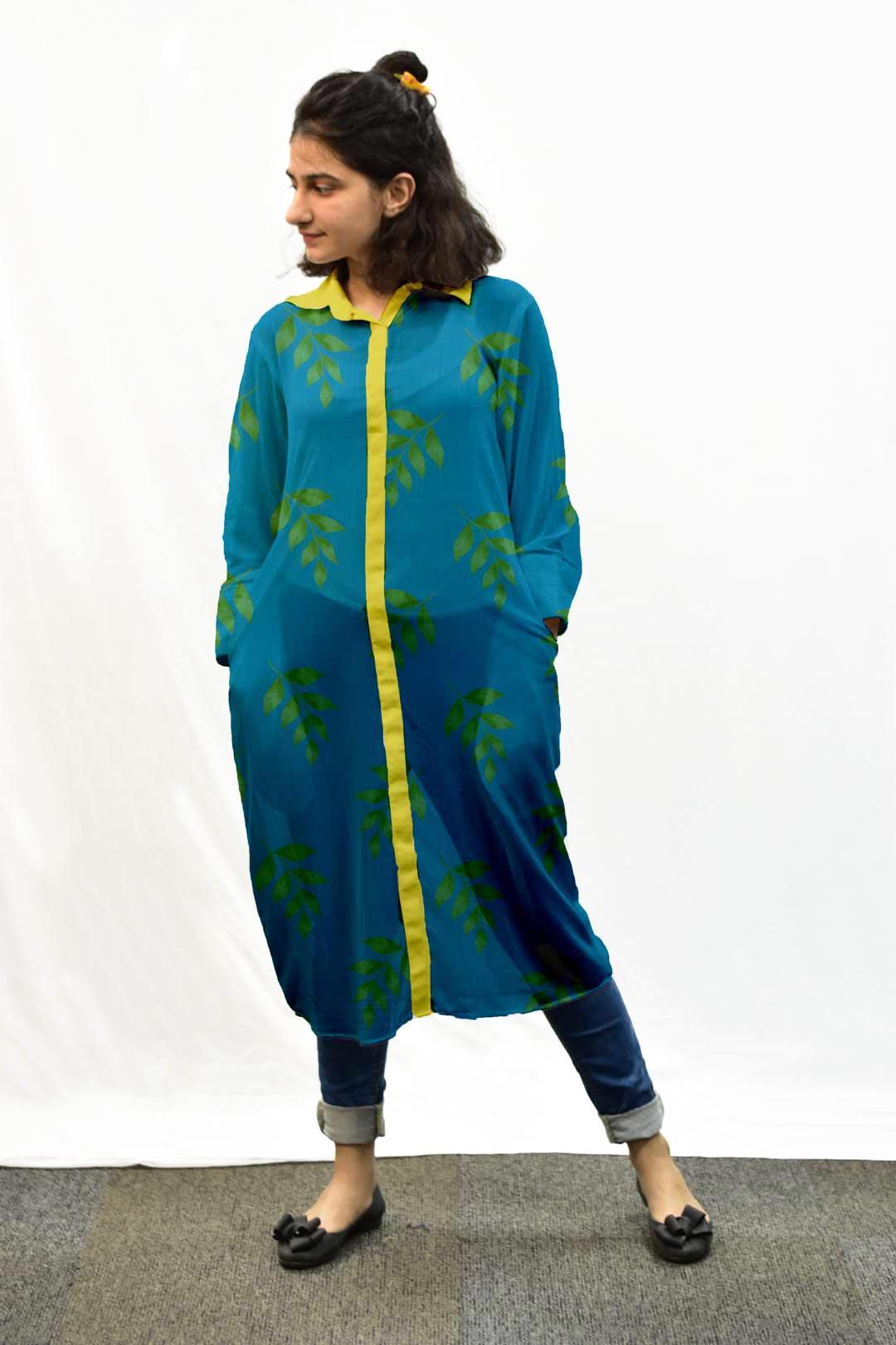 Georgette Shirt Style kurta – Leaflet