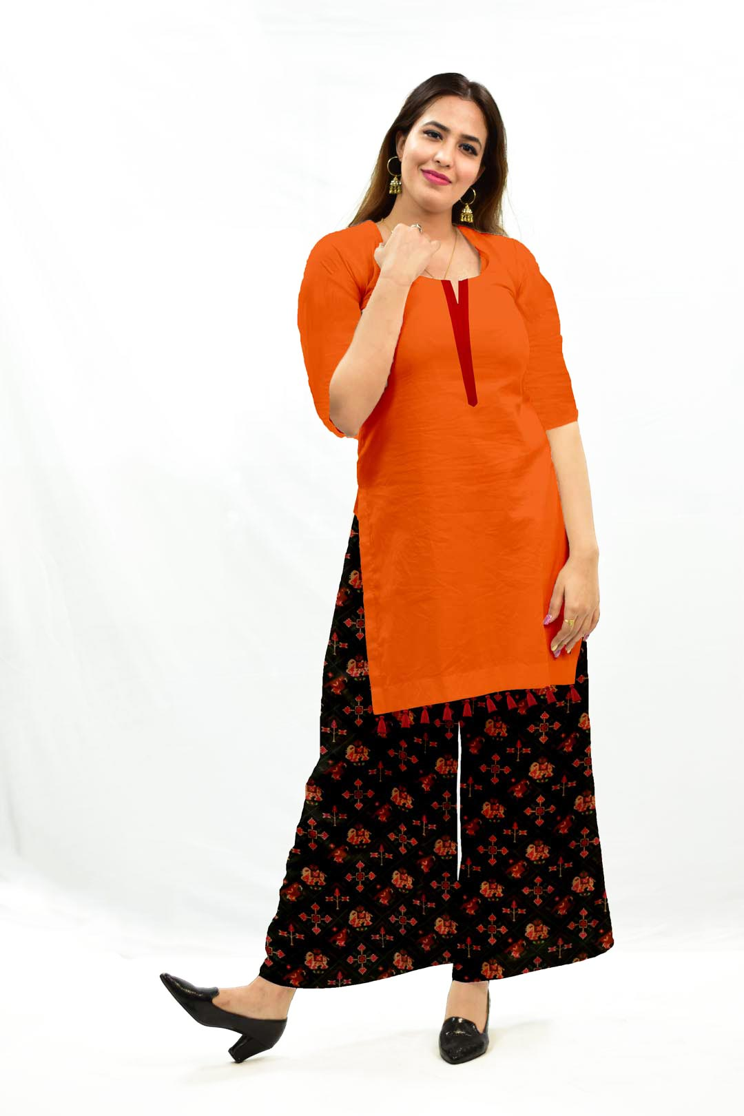 Cotton Palazzo Suit – Solid