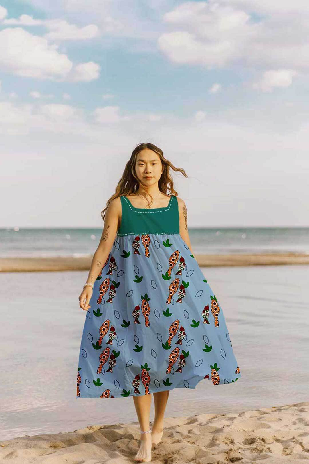 Cotton Yoke Dress – Birdies
