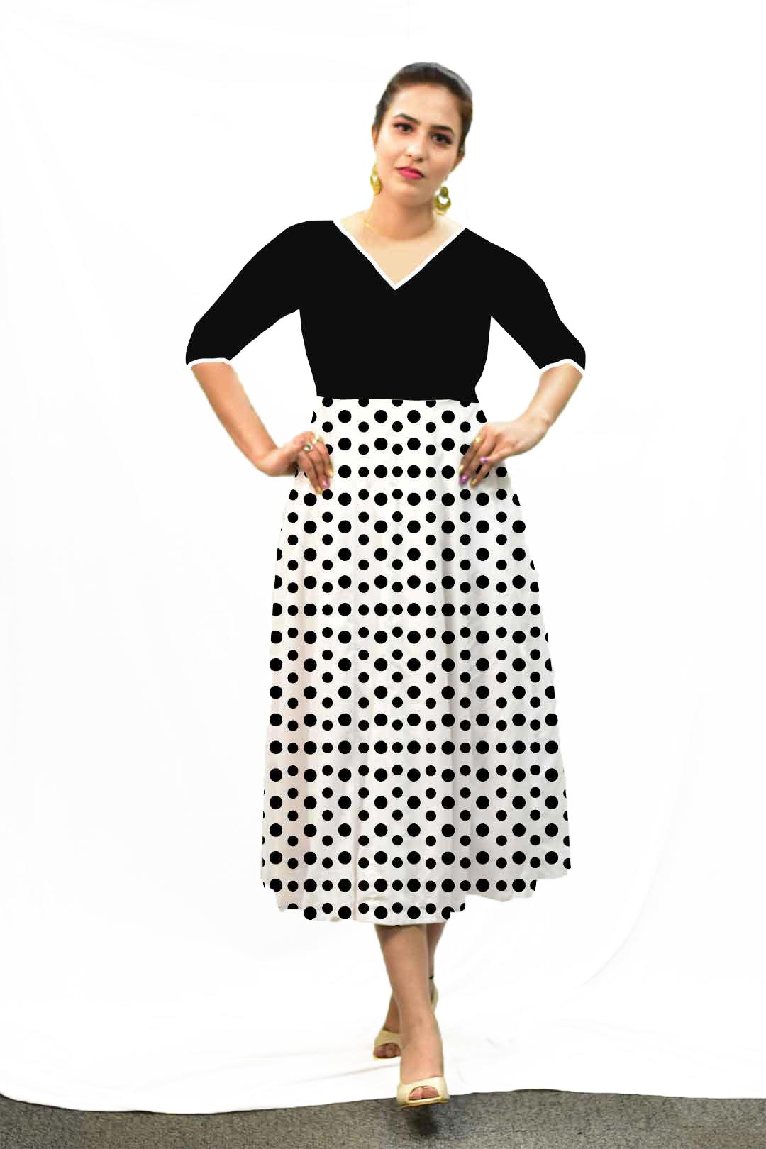 Georgette Frock Style Dress – Dots