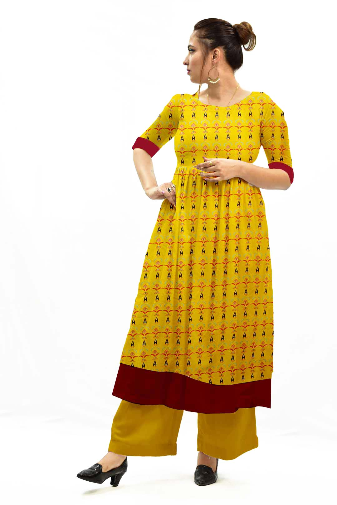 Georgette Frock Style Suit – Amber