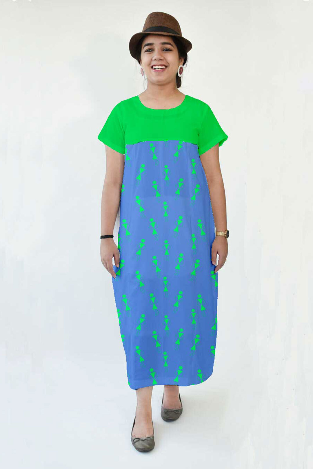 Cotton Cocoon Dress – Tribal