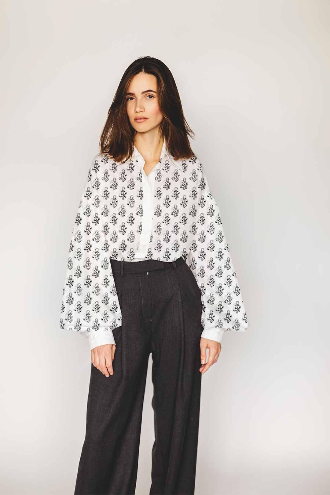 Georgette Shirt Top – Classic