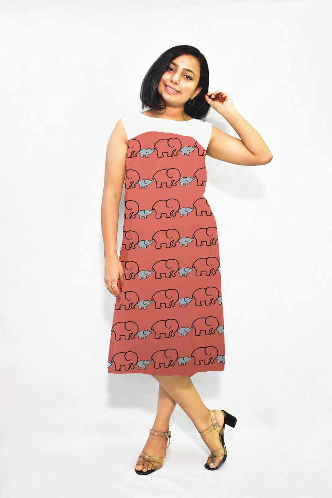 Cotton A line dress – Bade Miya, Chote Miya