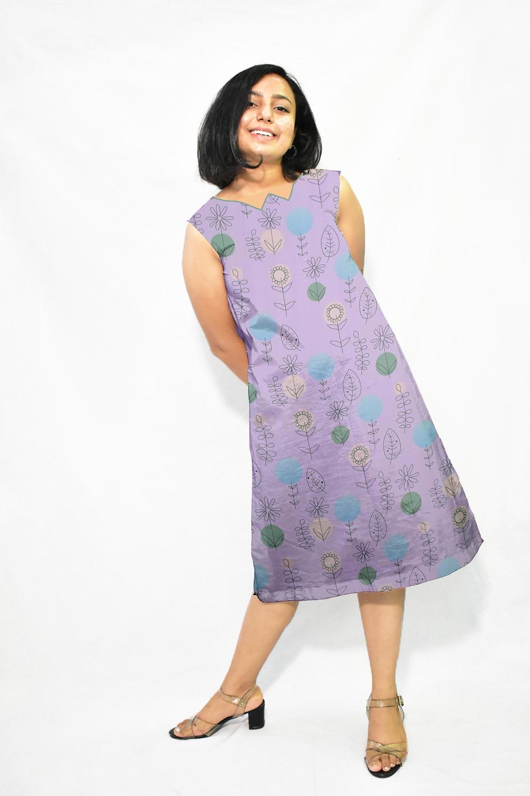 Cotton A Line Dress – Off Beat