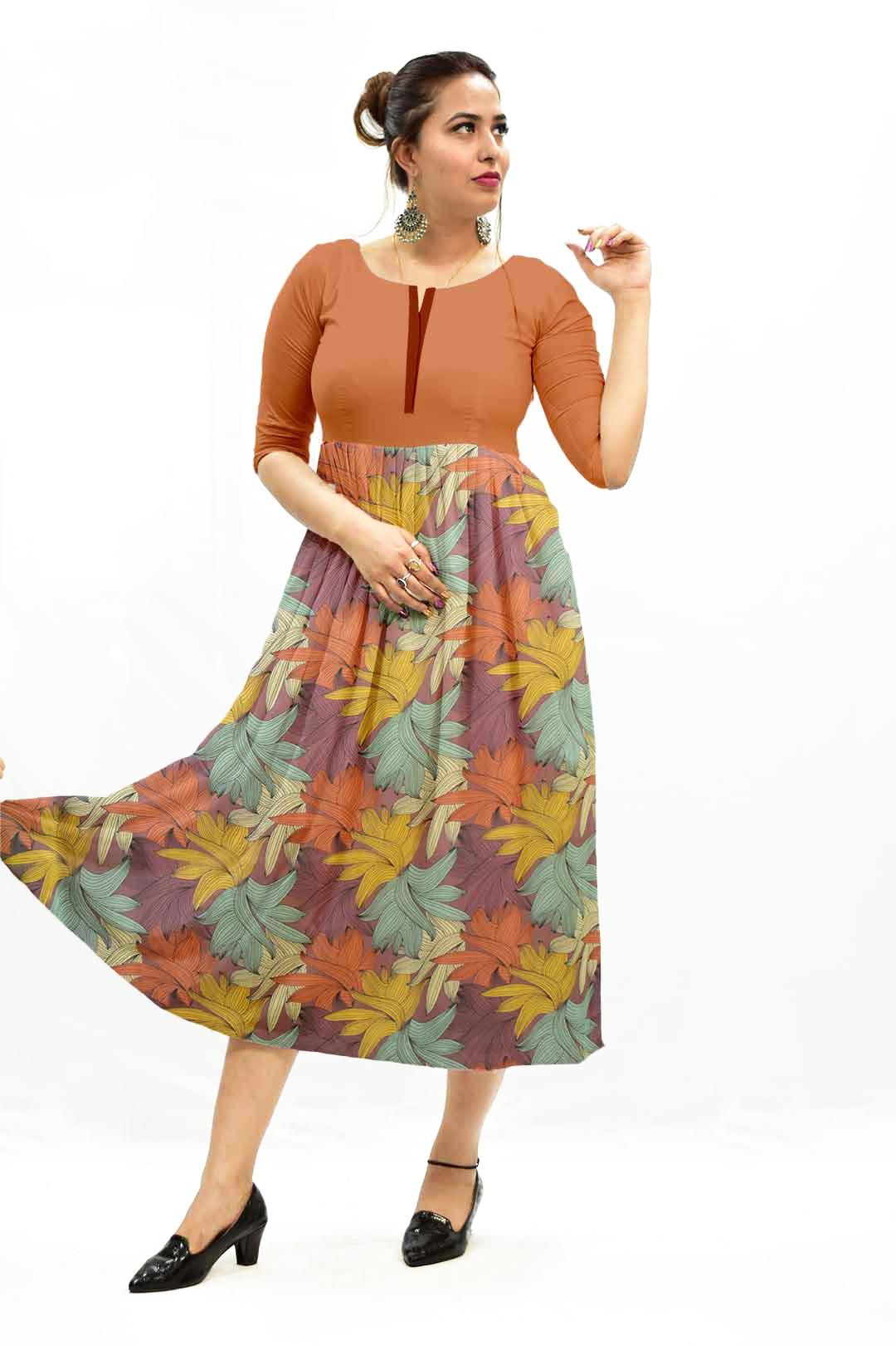 Georgette Frock Style Dress – Flora
