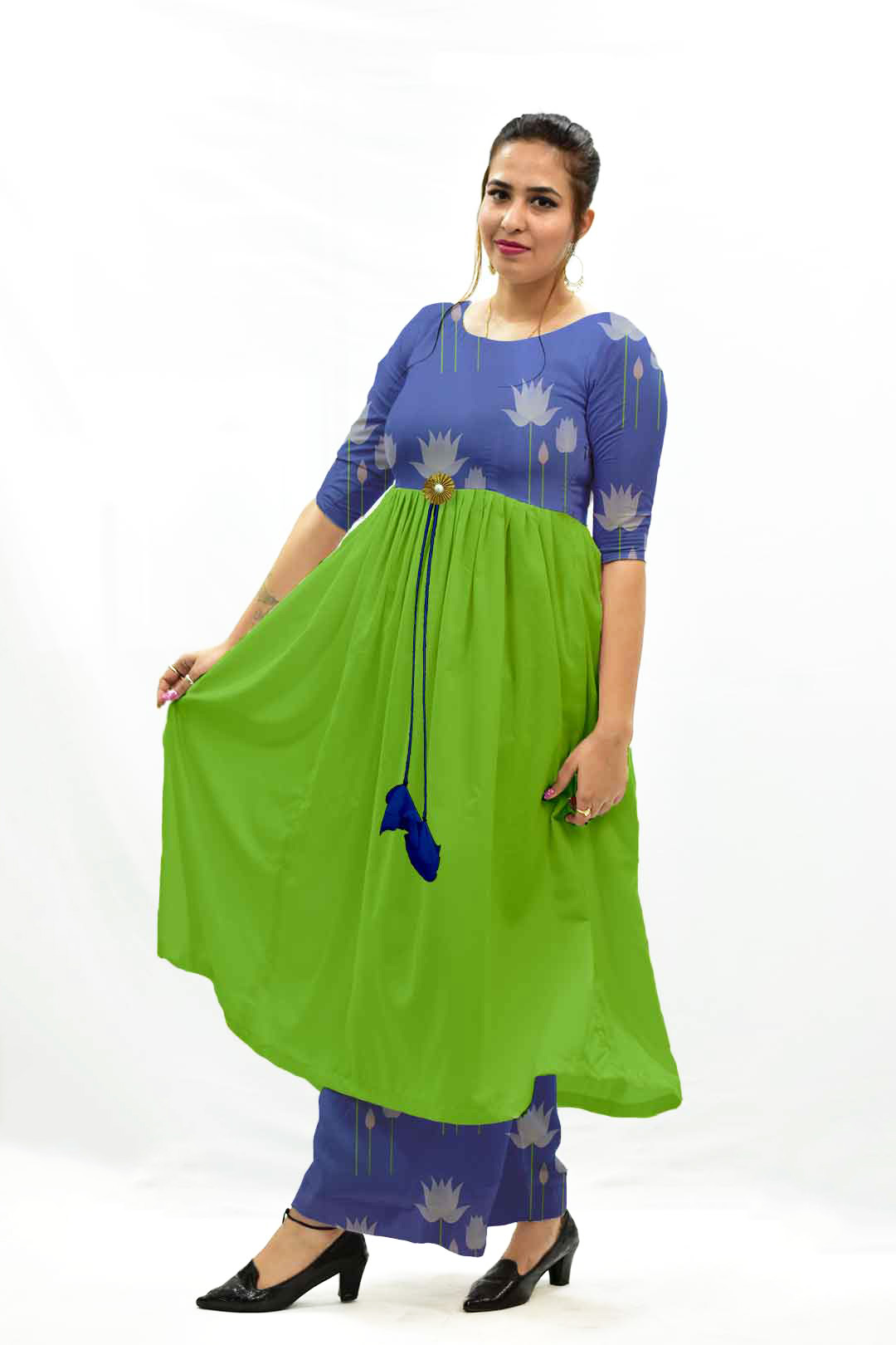 Georgette – Frock Style Suit – Water Lily