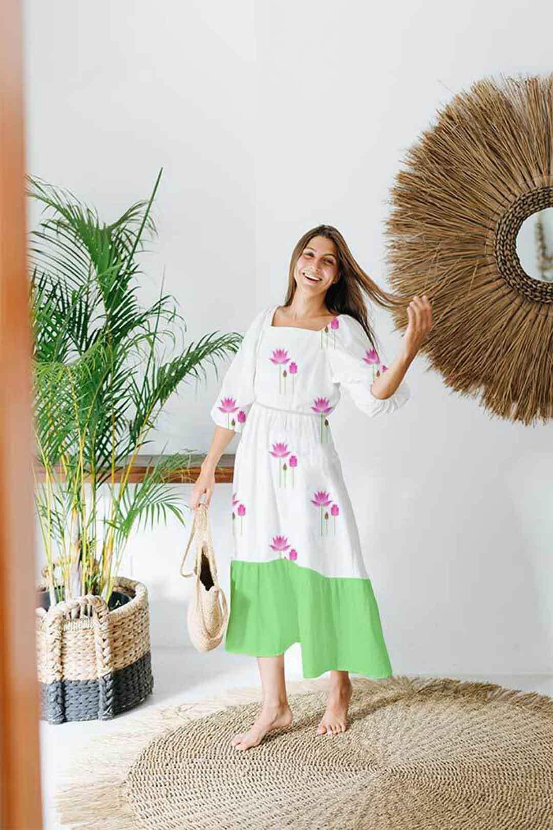 Georgette Tier Dress – Indian Lotus