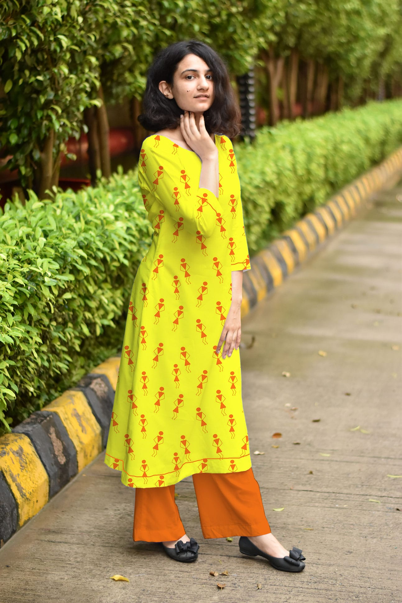Cotton – Cambric Palazzo Suit – Tribal