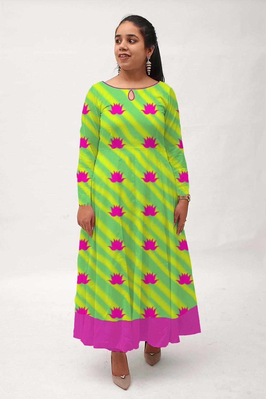Georgette A line Dress – Kamal