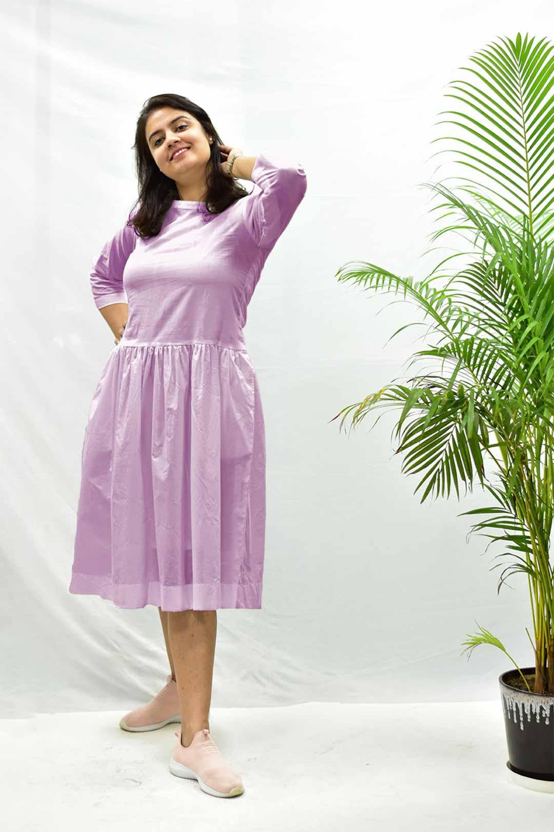 Cotton – Cambric Dropped waist – Lavender