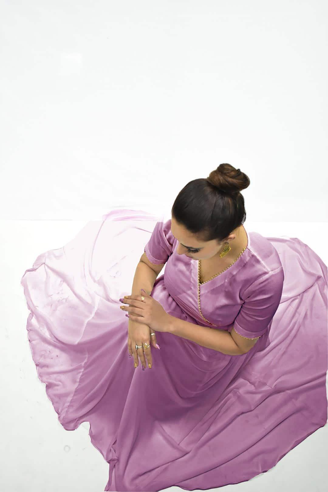 Georgette Anarkali Kurta – Lavender