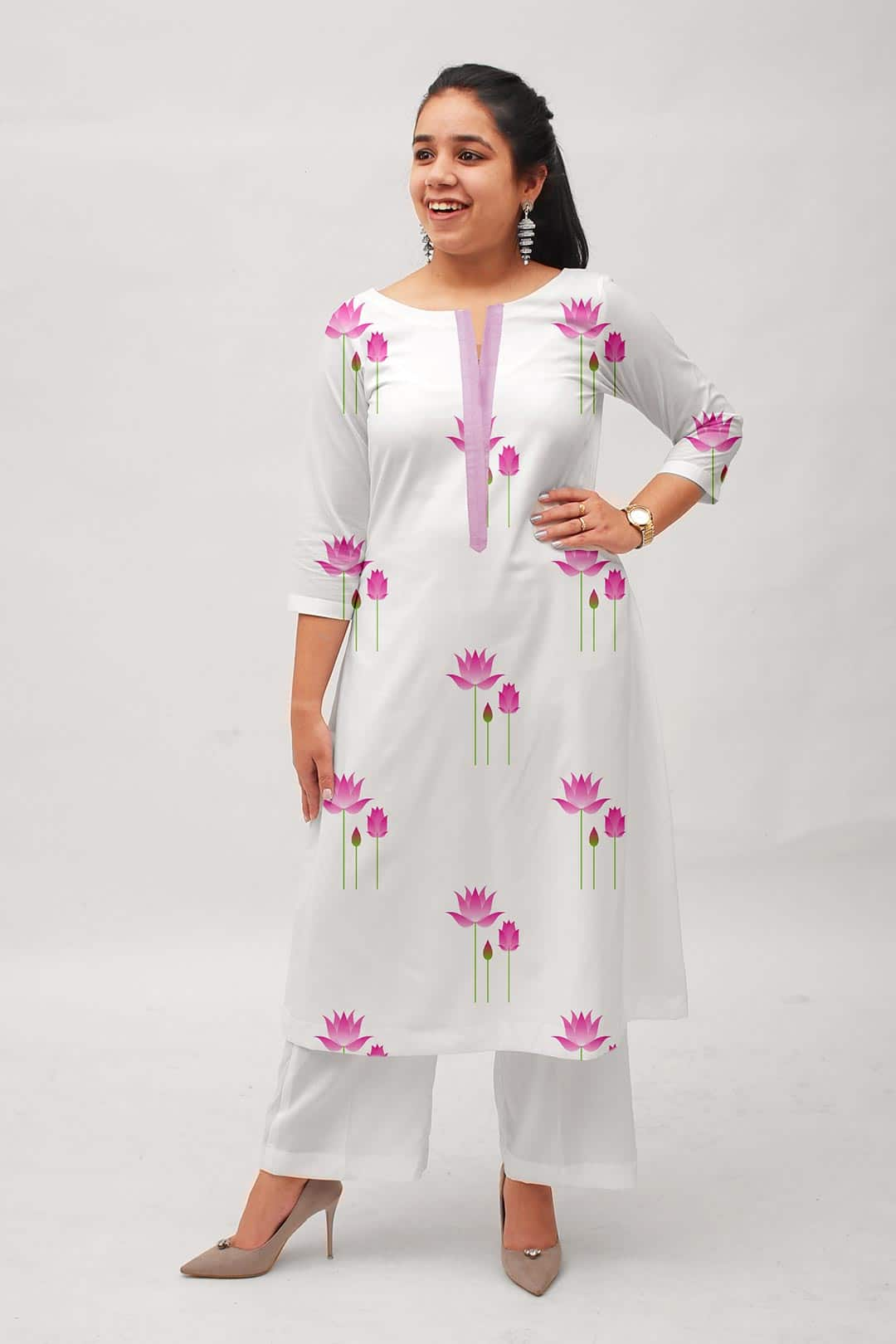 Georgette Palazzo Suit – Indian Lotus