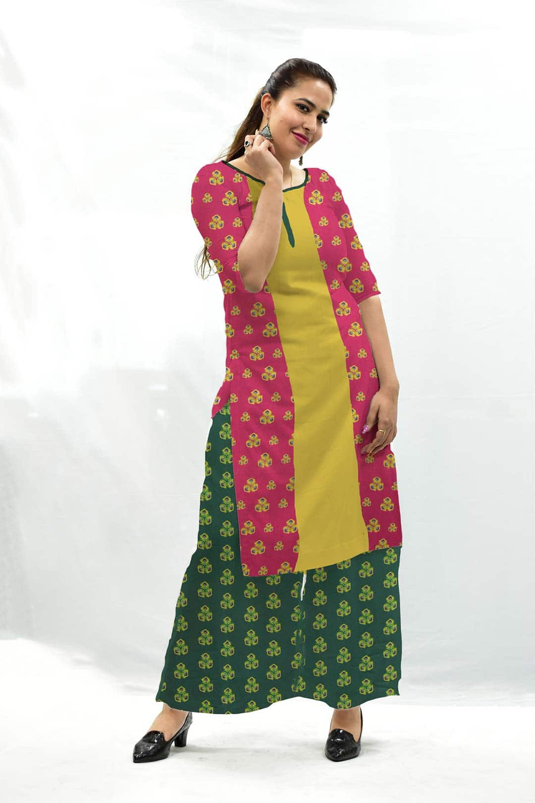 Cotton Palazzo Suit – Spinach