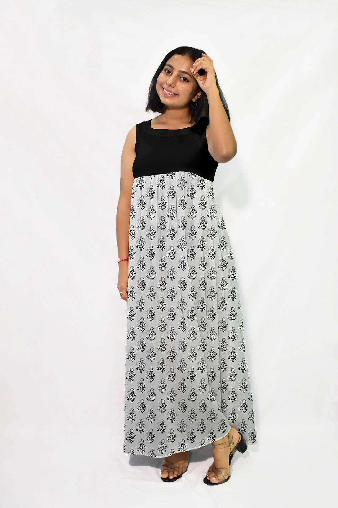 Georgette Maxi Dress – Classic