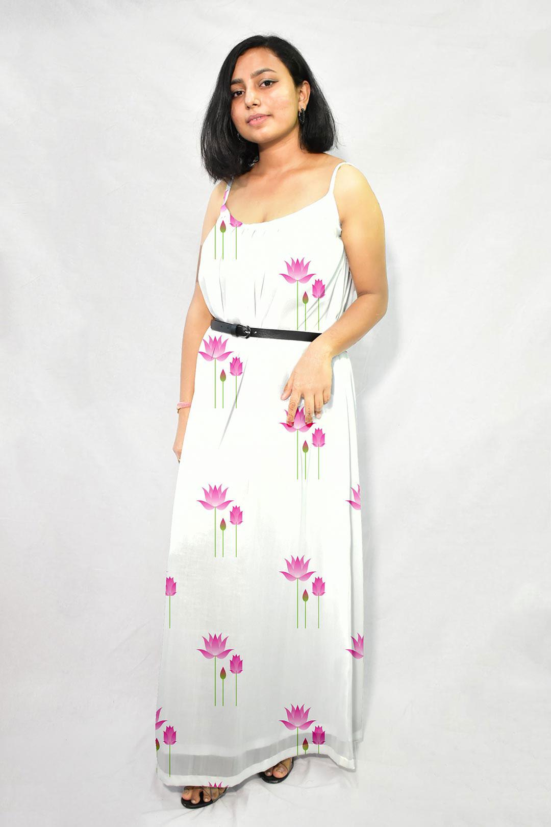 Georgette Maxi Dress – Indian Lotus