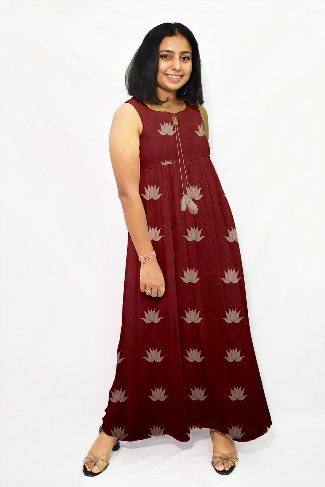 Georgette Frock Style Dress – Kamal