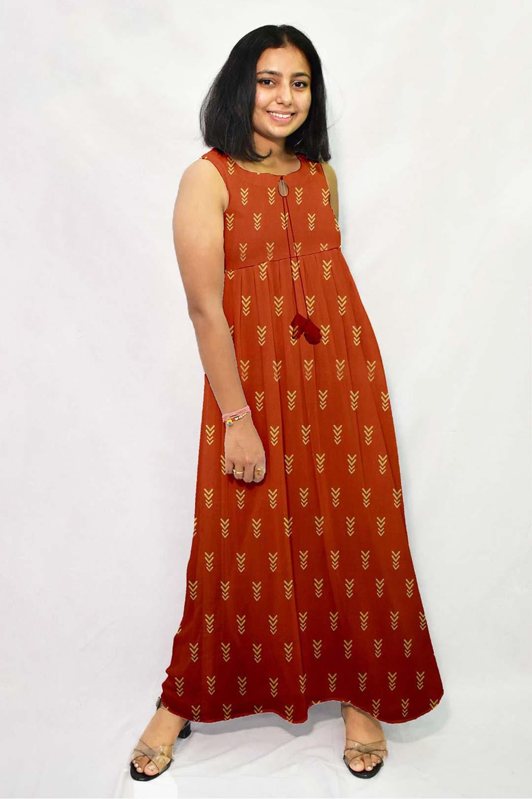 Georgette Frock Style Dress – Bolt