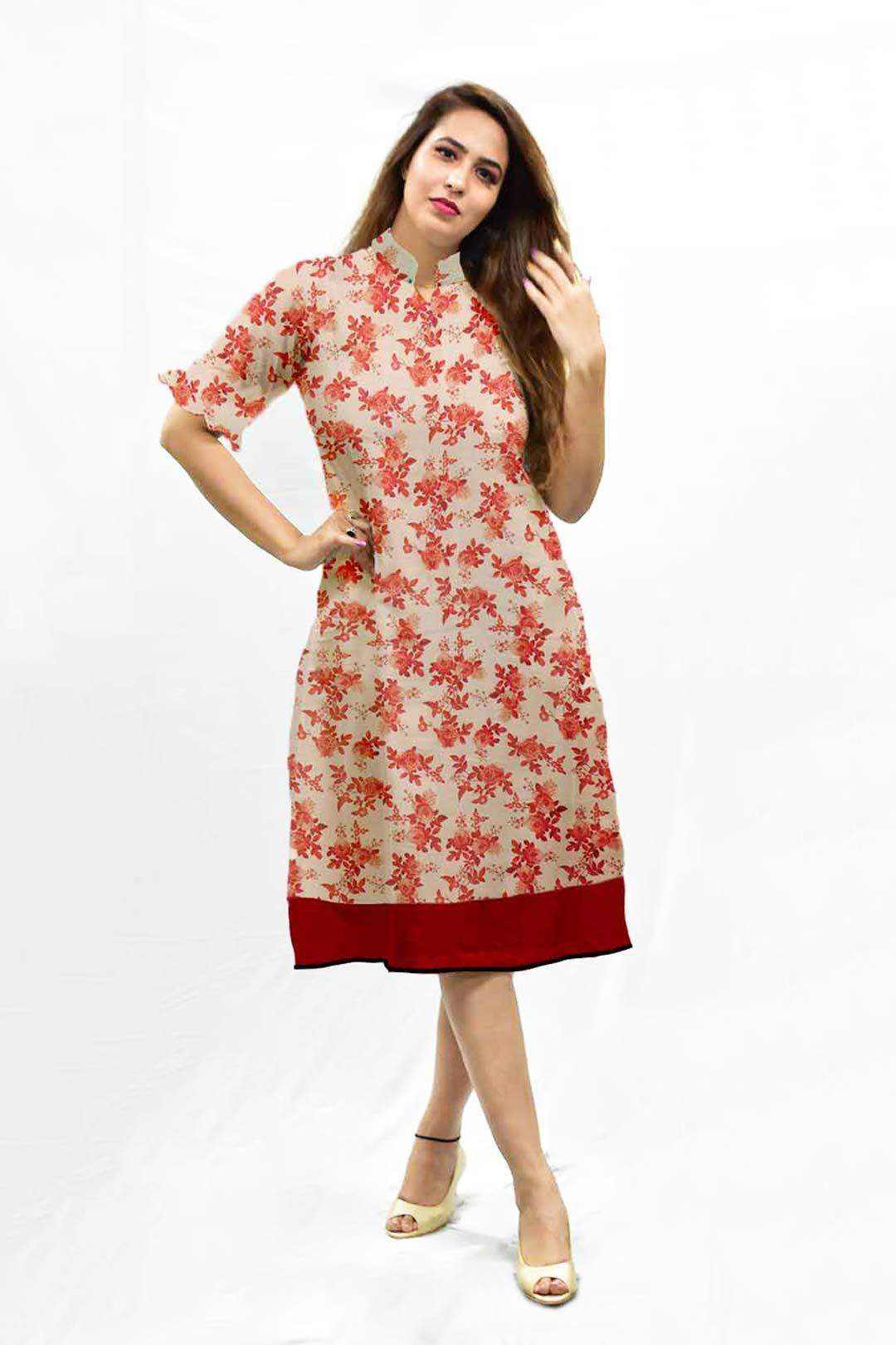 Muslin A Line Dress – Bella Rosa