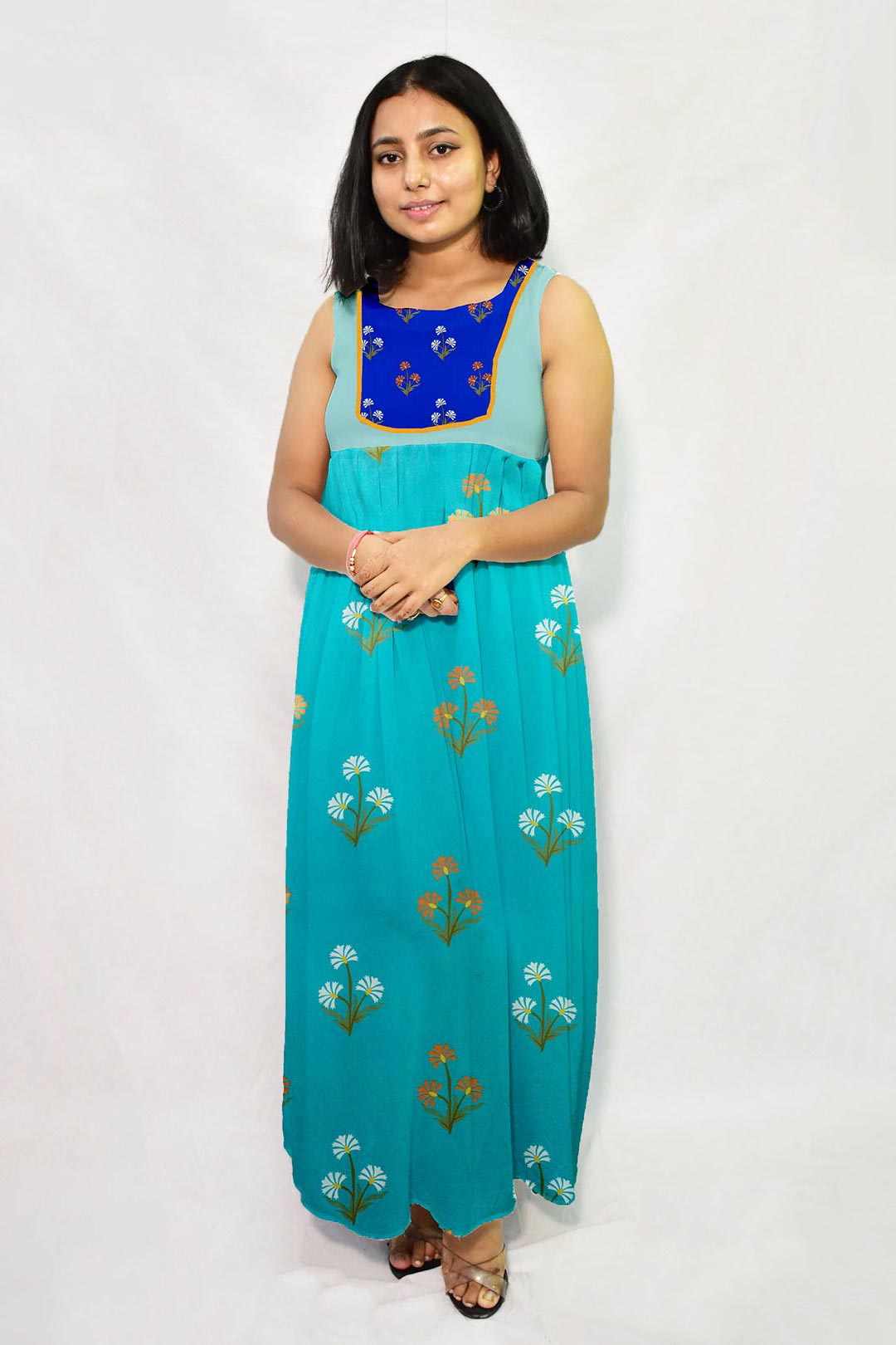 Georgette Maxi Dress – Aqua