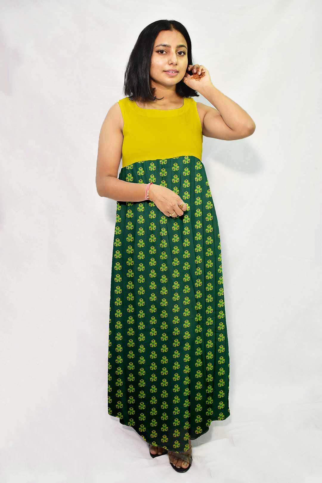Georgette Maxi Dress – Spinach